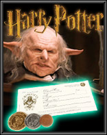 featured item coins harrypotter October 2012   The Golden Closet Entertainment Memorabilia Newsletter